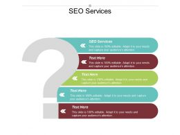 SEO Services Ppt Powerpoint Presentation Gallery Demonstration Cpb