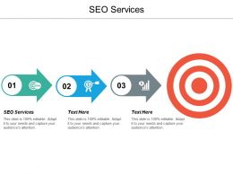 Seo Services Ppt Powerpoint Presentation Icon Brochure Cpb