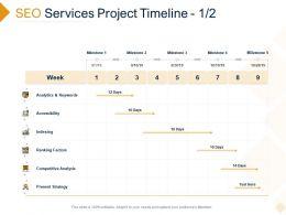 SEO Services Project Timeline Factors Ppt Powerpoint Presentation Professional