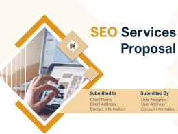 SEO Services Proposal Powerpoint Presentation Slides