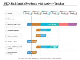 SEO Six Months Roadmap With Activity Tracker