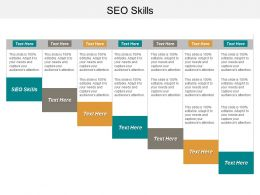 SEO Skills Ppt Powerpoint Presentation Model Professional Cpb