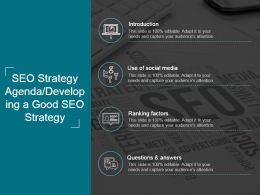 Seo Strategy Agenda Developing A Good Seo Strategy