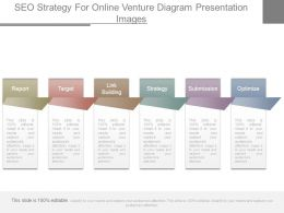 Seo Strategy For Online Venture Diagram Presentation Images