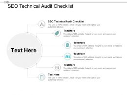 SEO Technical Audit Checklist Ppt Powerpoint Presentation Pictures Cpb