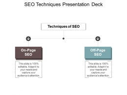 Seo Techniques Presentation Deck