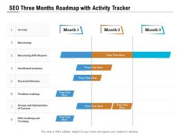 SEO Three Months Roadmap With Activity Tracker