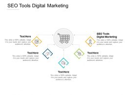 SEO Tools Digital Marketing Ppt Powerpoint Presentation Infographic Template Topics Cpb