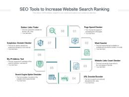 SEO Tools To Increase Website Search Ranking