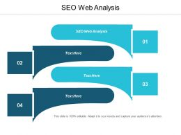 SEO Web Analysis Ppt Powerpoint Presentation Icon Mockup Cpb