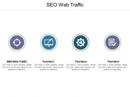 SEO Web Traffic Ppt Powerpoint Presentation Model Design Inspiration Cpb