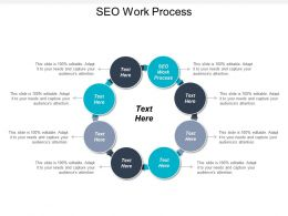 SEO Work Process Ppt Powerpoint Presentation Infographics Infographics Cpb
