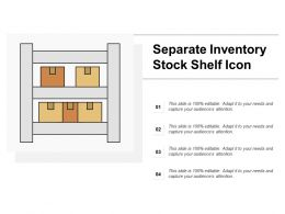 Separate Inventory Stock Shelf Icon