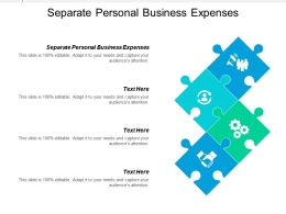 Separate Personal Business Expenses Ppt Powerpoint Presentation Infographics Icon Cpb