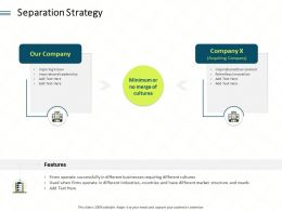 Separation Strategy Operate Ppt Powerpoint Presentation Outline Information