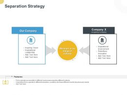 Separation Strategy Ppt Powerpoint Presentation Pictures Slide Download