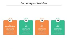Seq Analysis Workflow Ppt Powerpoint Presentation Layouts Introduction Cpb