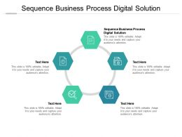 Sequence Business Process Digital Solution Ppt Powerpoint Presentation Icon Gridlines Cpb