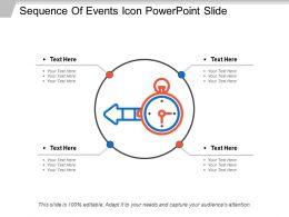 Sequence Of Events Icon Powerpoint Slide