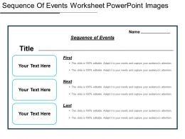 Sequence Of Events Worksheet Powerpoint Images