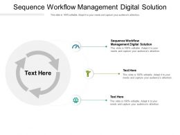 Sequence Workflow Management Digital Solution Ppt Powerpoint Presentation Layouts Slide Portrait Cpb