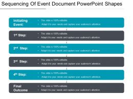 Sequencing Of Event Document Powerpoint Shapes