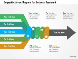 Sequential Arrow Diagram For Business Teamwork Flat Powerpoint Design