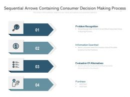 Sequential Arrows Containing Consumer Decision Making Process