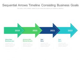 Sequential Arrows Timeline Consisting Business Goals