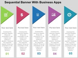 Sequential Banner With Business Apps Flat Powerpoint Design