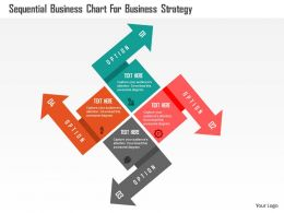 Sequential Business Chart For Business Strategy Flat Powerpoint Design