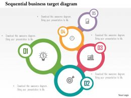 Sequential Business Target Diagram Flat Powerpoint Design