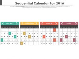 Sequential Calendars For January February March And April Months Powerpoint Slides