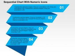 Sequential Chart With Numeric Icons Flat Powerpoint Design