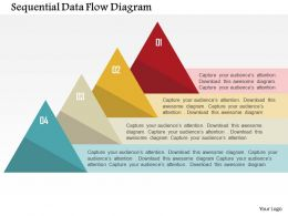 Sequential Data Flow Diagram Flat Powerpoint Design