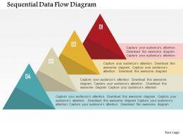 Sequential Data Flow Diagram Flat Powerpoint Design
