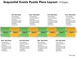 Sequential Events Puzzle Piece Layout 8 Stages Flowchart Creator Powerpoint Templates