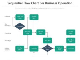 Sequential Flow Chart For Business Operation Flat Powerpoint Design