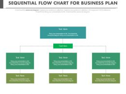 Sequential Flow Chart For Business Plan Flat Powerpoint Design
