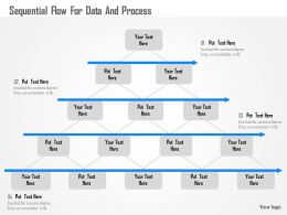 Sequential Flow For Data And Process Flat Powerpoint Design