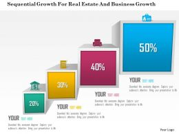 Sequential Growth For Real Estate And Business Growth Powerpoint Template