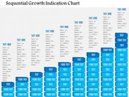 Sequential Growth Indication Chart Flat Powerpoint Design