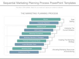 Sequential Marketing Planning Process Powerpoint Templates
