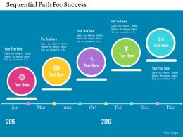 Sequential Path For Success Flat Powerpoint Design