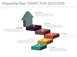 Sequential Stair Chart For Success And Business Process Indication Flat Powerpoint Design
