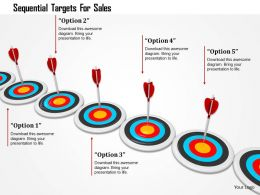 Sequential Targets For Sales Image Graphics For Powerpoint