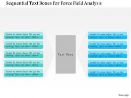 Sequential Text Boxes For Force Field Analysis Flat Powerpoint Design