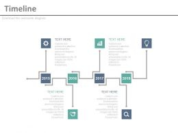 Sequential Timeline For Business Achievement Powerpoint Slides