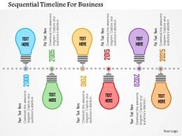 Sequential Timeline For Business Flat Powerpoint Design