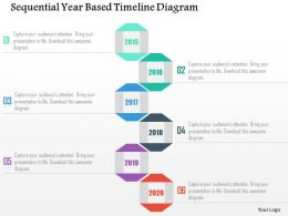 Sequential Year Based Timeline Diagram Flat Powerpoint Design
